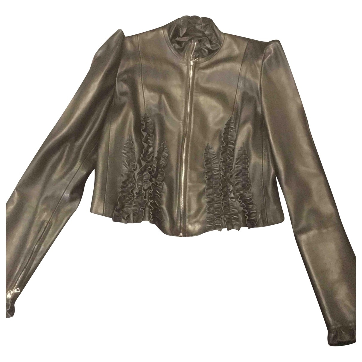 Cacharel \N Black Leather Leather jacket for Women 42 IT