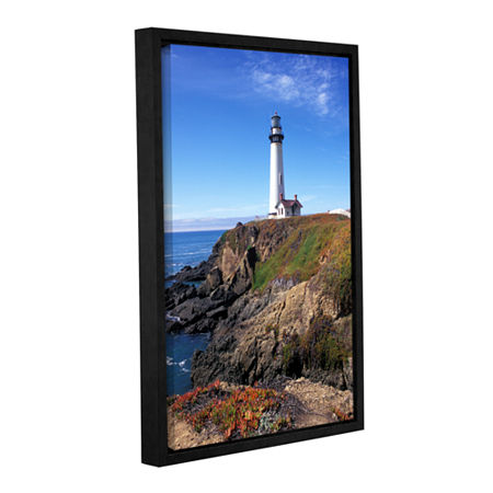 Brushstone Pigeon Point Lighthouse 2 Gallery Wrapped Floater-Framed Canvas Wall Art, One Size , Blue