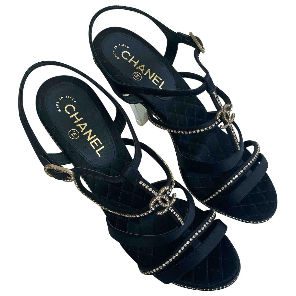 Chanel \N Black Cloth Sandals for Women 42 EU