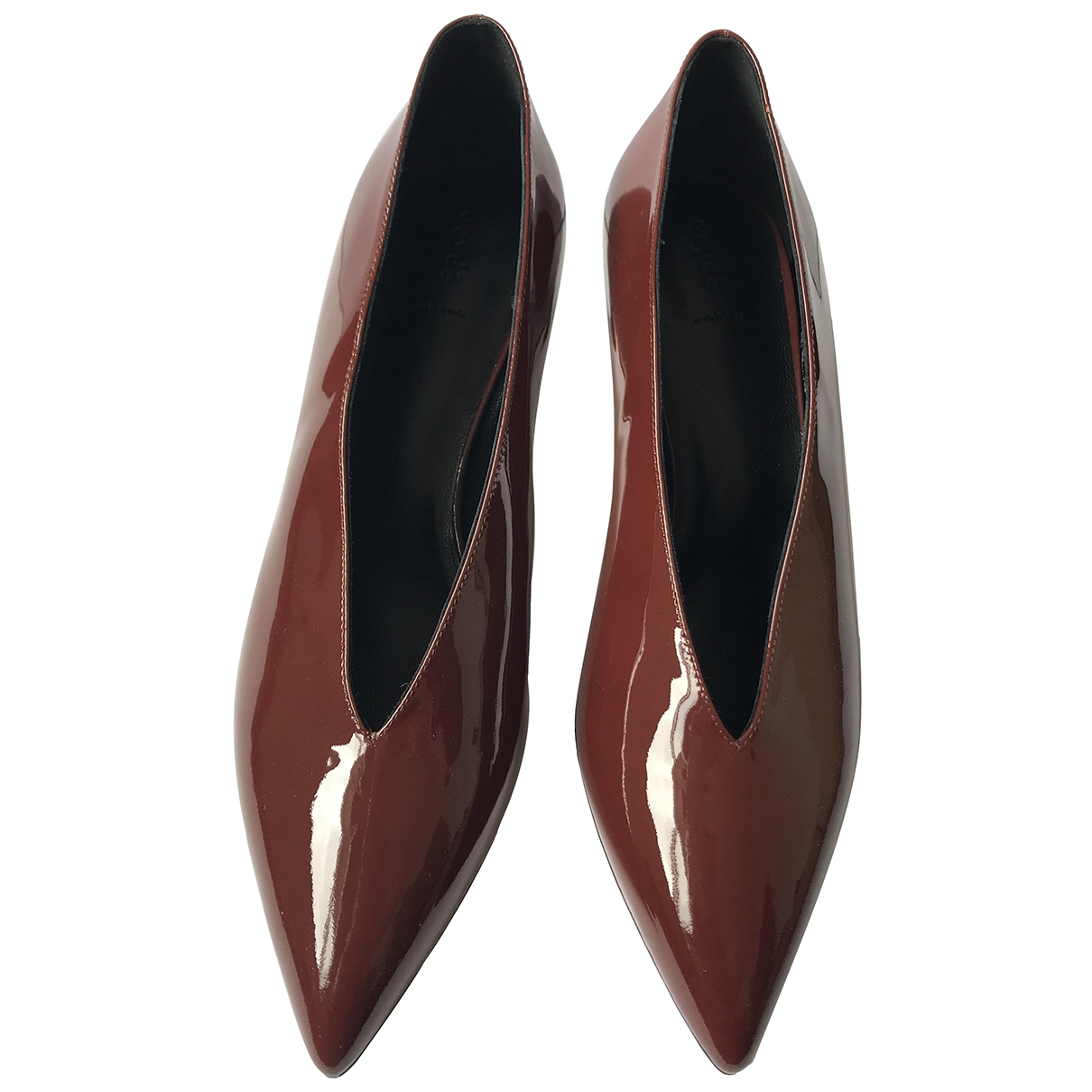 Aeyde \N Brown Patent leather Heels for Women 38 EU