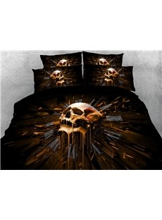 The Skeleton Clock of Fate 3D Printed 4-Piece Polyester Bedding Sets/Duvet Covers