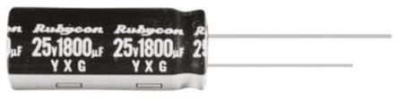 Rubycon 680μF Electrolytic Capacitor 25V dc, Through Hole - 25YXG680MEFC10X20 (10)