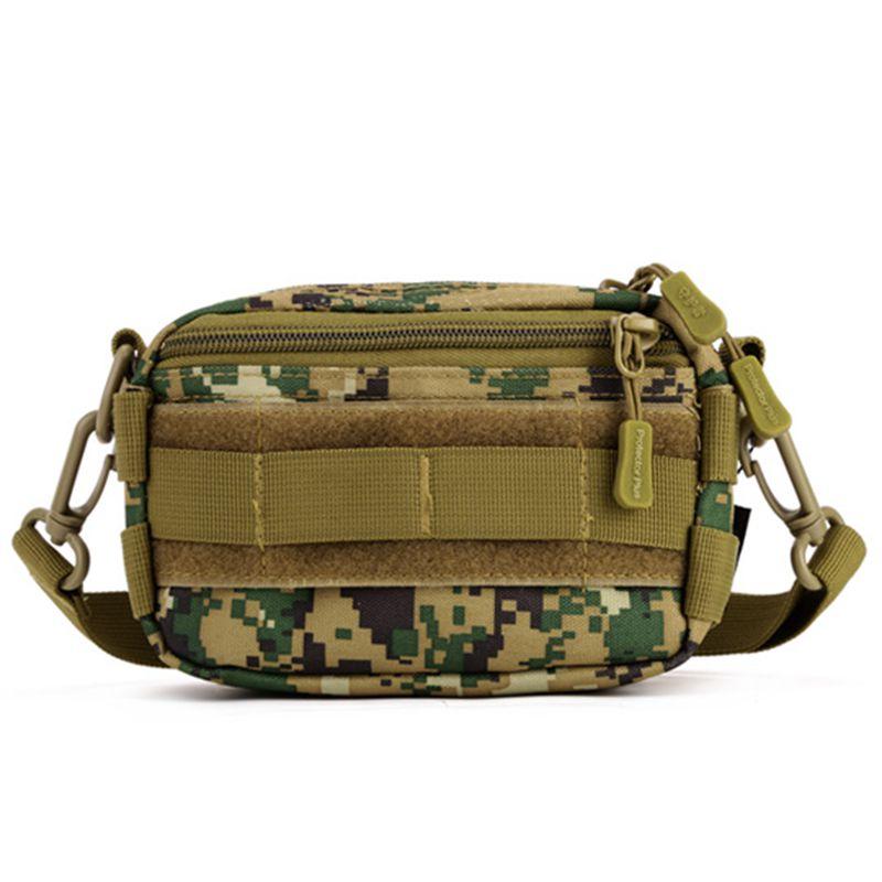 Camo Shoulder Bag Lightweight Nylon Fabric Messenger Bag