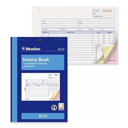 Blueline@ Blank Invoice Book Carbonless Copy - 5-3/8 x 8