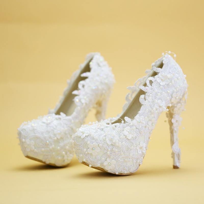 Ericdress Stiletto Heel Slip-On Round Toe Wedding Shoes