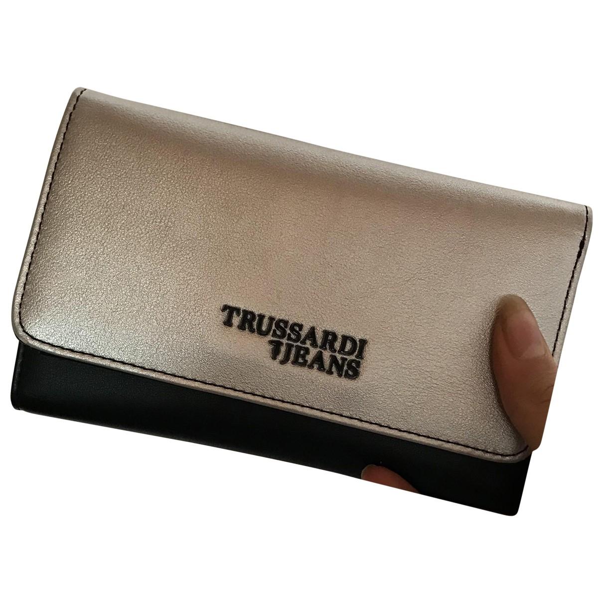 Trussardi Jeans \N Silver Leather wallet for Women \N