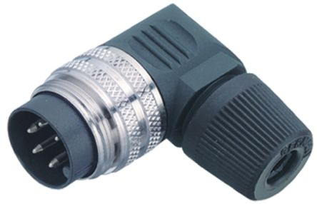 Binder Connector, 7 contacts Cable Mount Miniature Plug, Solder IP40
