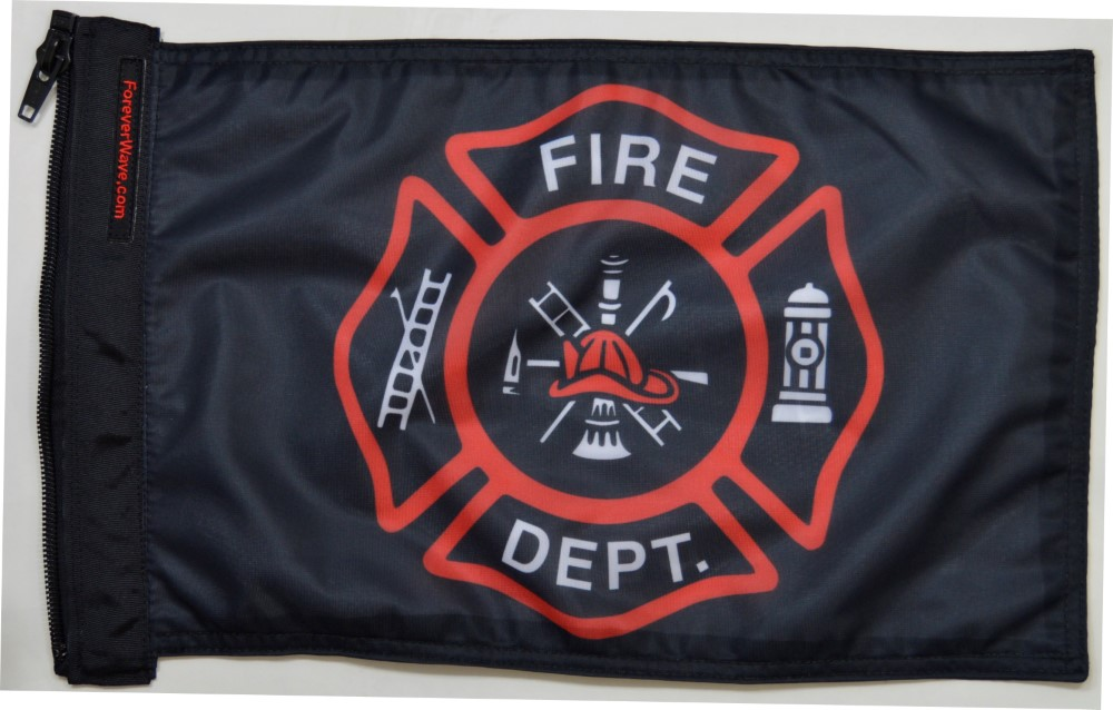 Forever Wave 5041 Fire Department Flag
