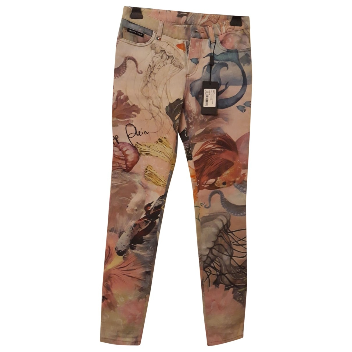 Philipp Plein \N Multicolour Denim - Jeans Trousers for Women 40 IT