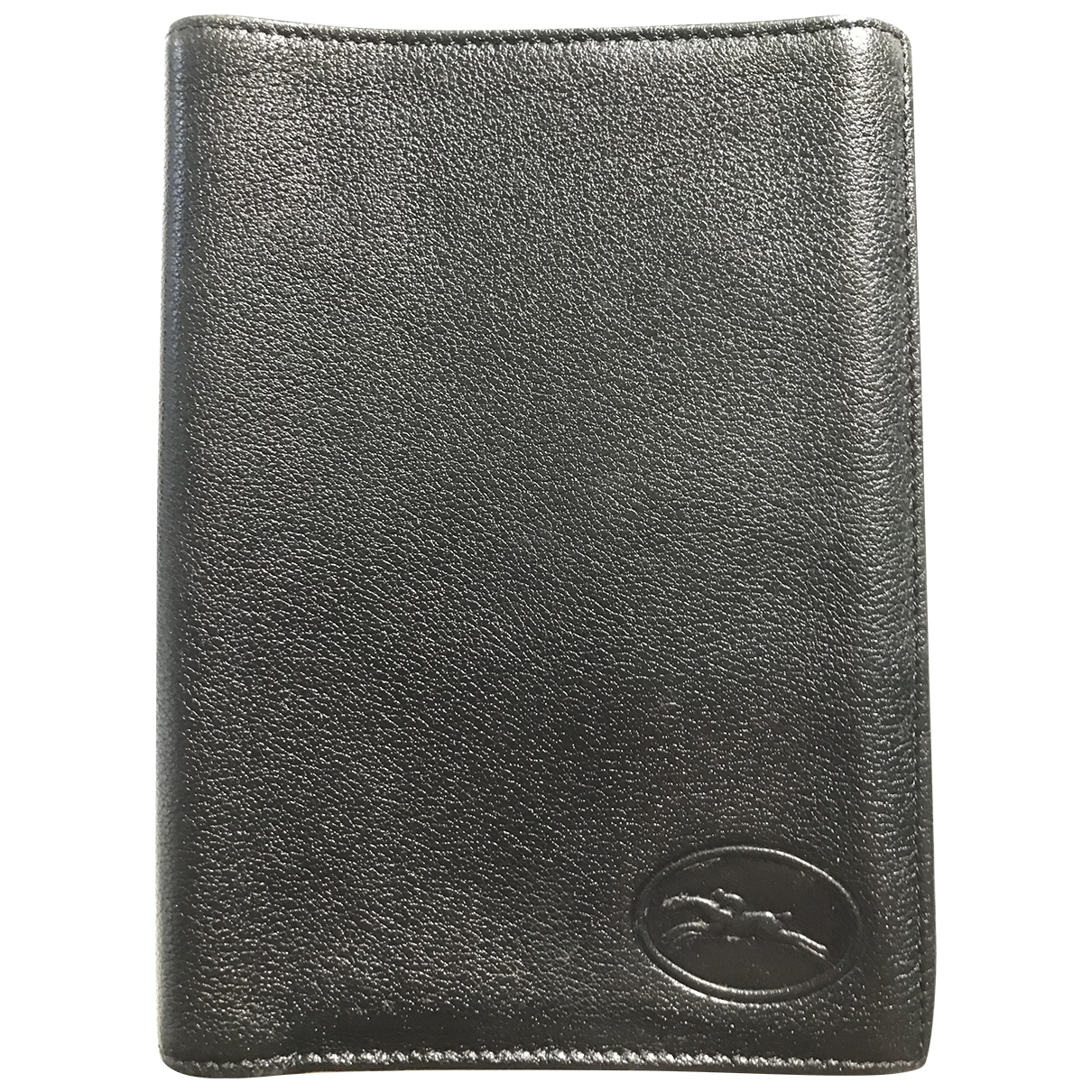 Longchamp \N Black Leather Small bag, wallet & cases for Men \N