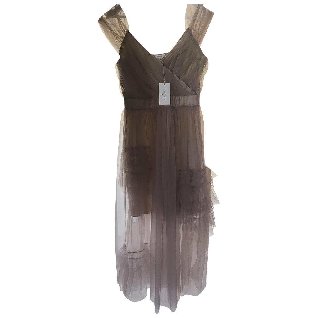 Patrizia Pepe \N Beige Silk dress for Women M International