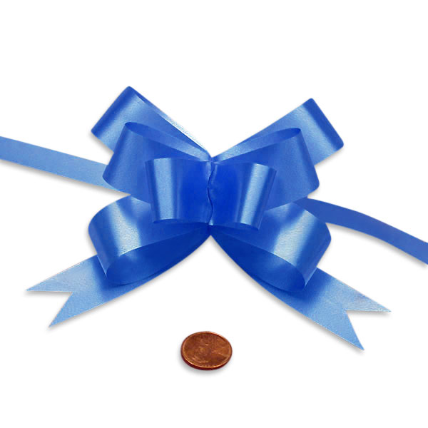 Satin Blue Butterfly Bow 2