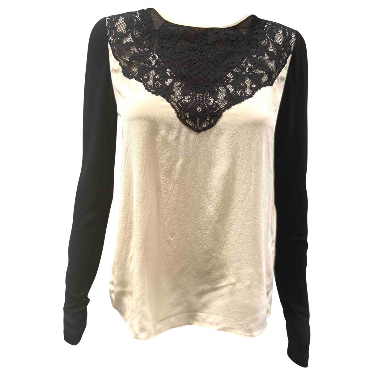 Diane Von Furstenberg \N Ecru Silk  top for Women 2 US