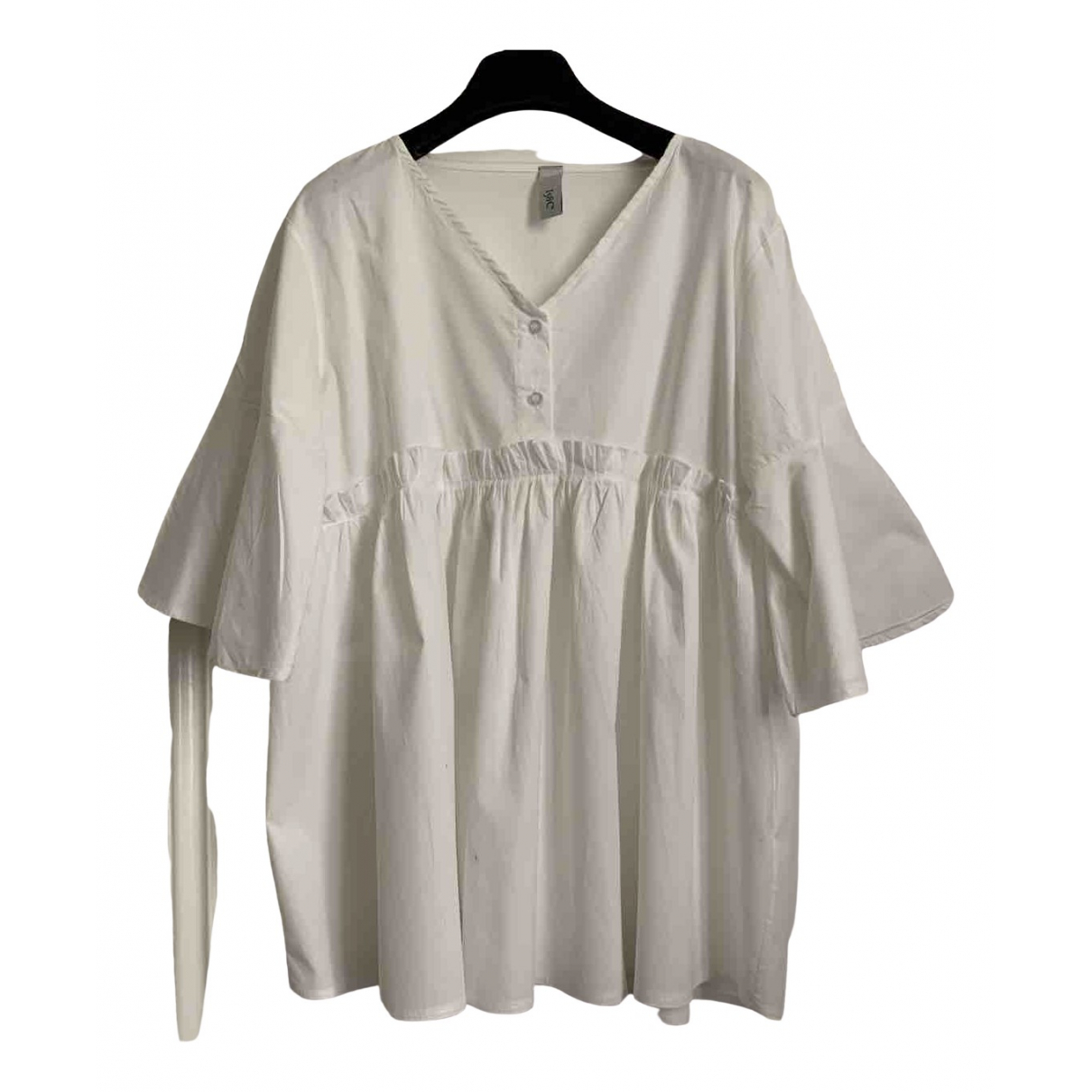 Non Signé / Unsigned \N White Cotton  top for Women One Size International