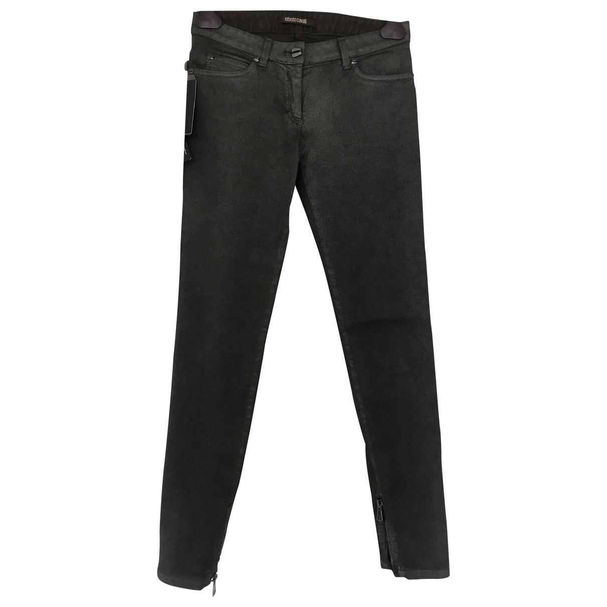 Roberto Cavalli \N Grey Denim - Jeans Trousers for Women 38 IT