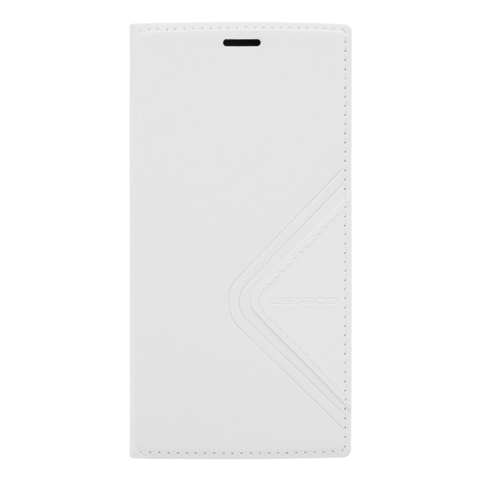 Flip Cover Protective Case with Back Shell for LEAGOO ALFA 5 - White