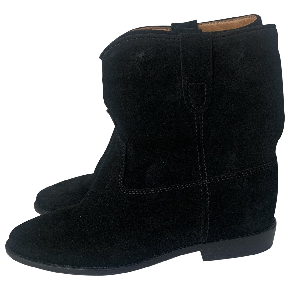 Isabel Marant Crisi  Black Suede Ankle boots for Women 37 EU