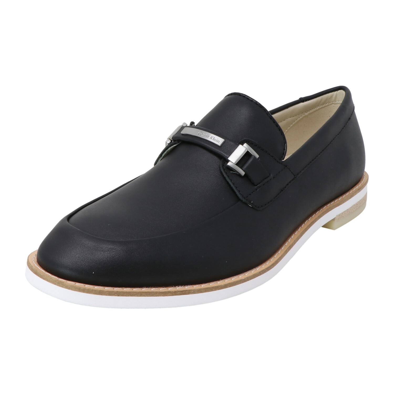 Calvin Klein Men's Adler Nappa Calf Leather Black Ankle-High Oxford - 9M