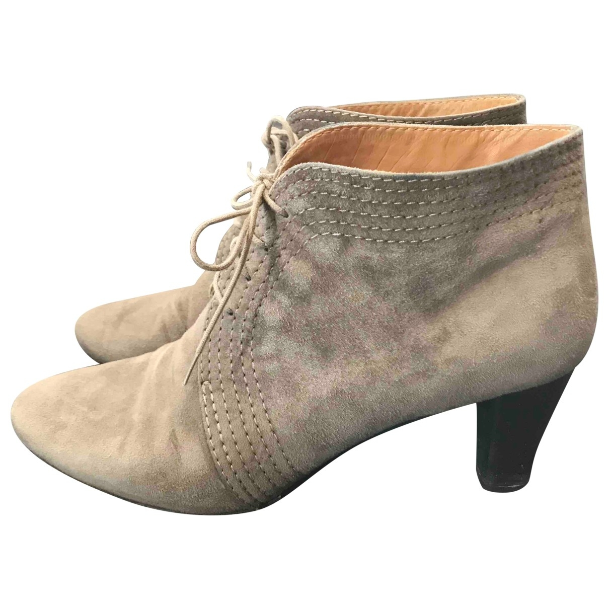 Non Signé / Unsigned \N Grey Suede Ankle boots for Women 39 EU