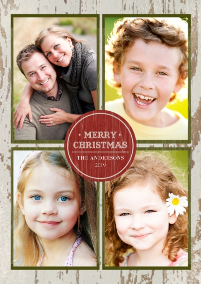 Christmas Photo Cards 5x7 Cards, Premium Cardstock 120lb, Card & Stationery -Rustic Merry Christmas