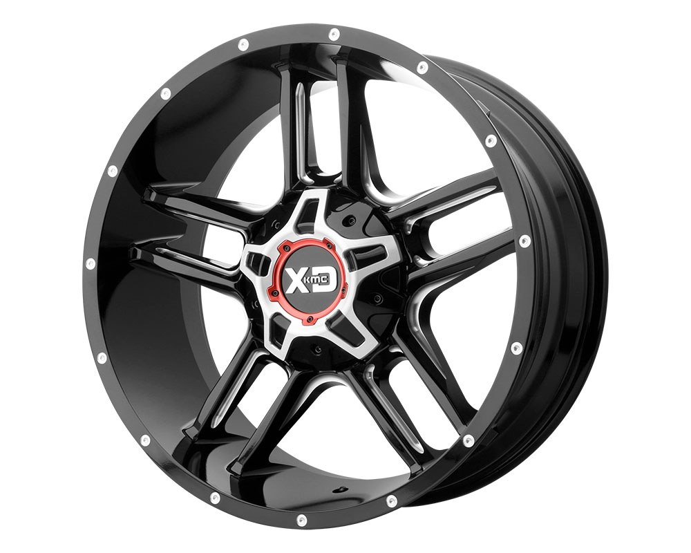 XD Series XD83921267344N XD839 Clamp Wheel 20x12 6x6x135/6x139.7 -44mm Gloss Black Milled