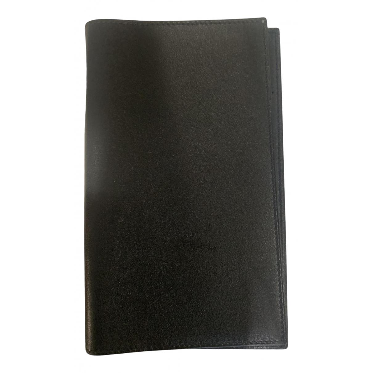 Hermès Couverture d'agenda GM Black Leather Home decor for Life & Living \N