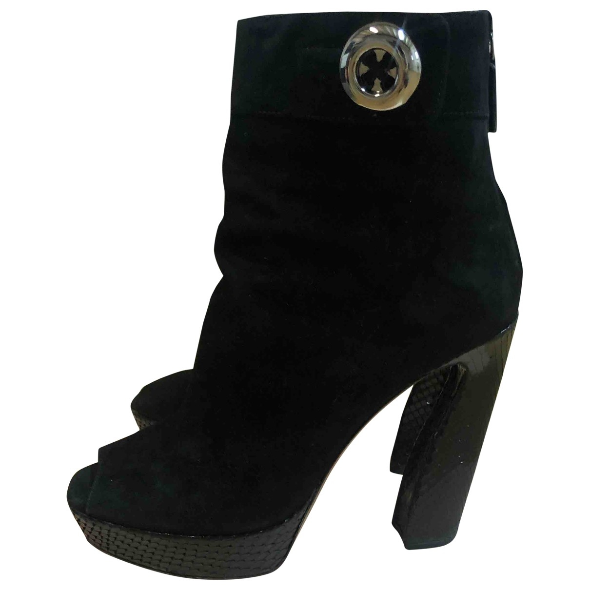 Prada \N Black Suede Ankle boots for Women 37 EU