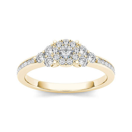 1/2 CT. T.W. Diamond 10K Yellow Gold Engagement Ring, 8 1/2 , No Color Family