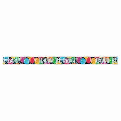Bannière de décoration de fête ballon multicolore anniversaire bravo, 12 pieds