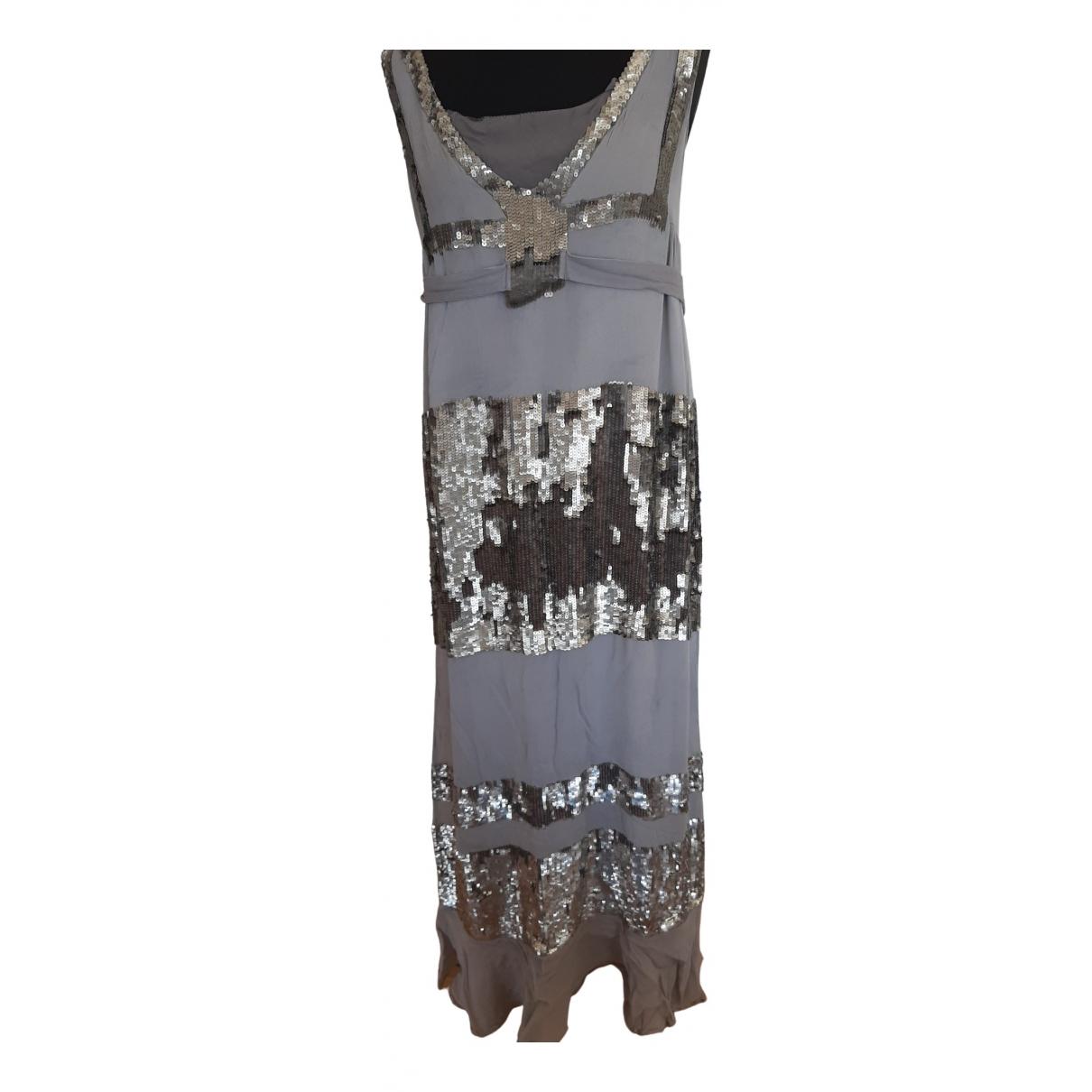 Twin Set \N Grey Glitter dress for Women 44 FR