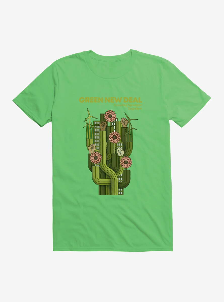 Green New Deal Growing Stronger T-Shirt