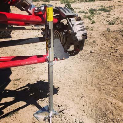 UTV Jack Polaris RZR 570-800, 900 Trail 10mm x 4 Front/Rear W/O Roll Bar Mounts Aluminum JackDaddy Tuff Trail Gear 8168