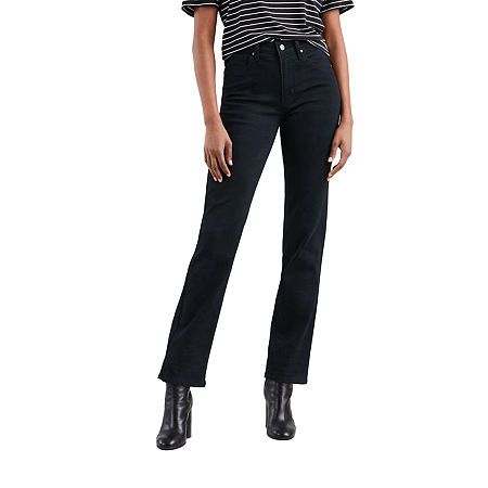 Levi's 724 High Rise Straight Jeans, 31 , Black