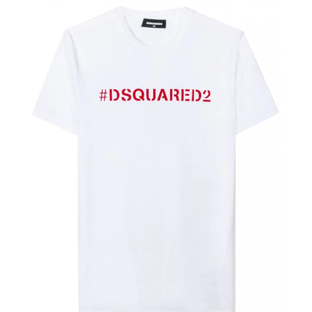 Dsquared2 Hashtag T-shirt Colour: WHITE, Size: 14 YEARS
