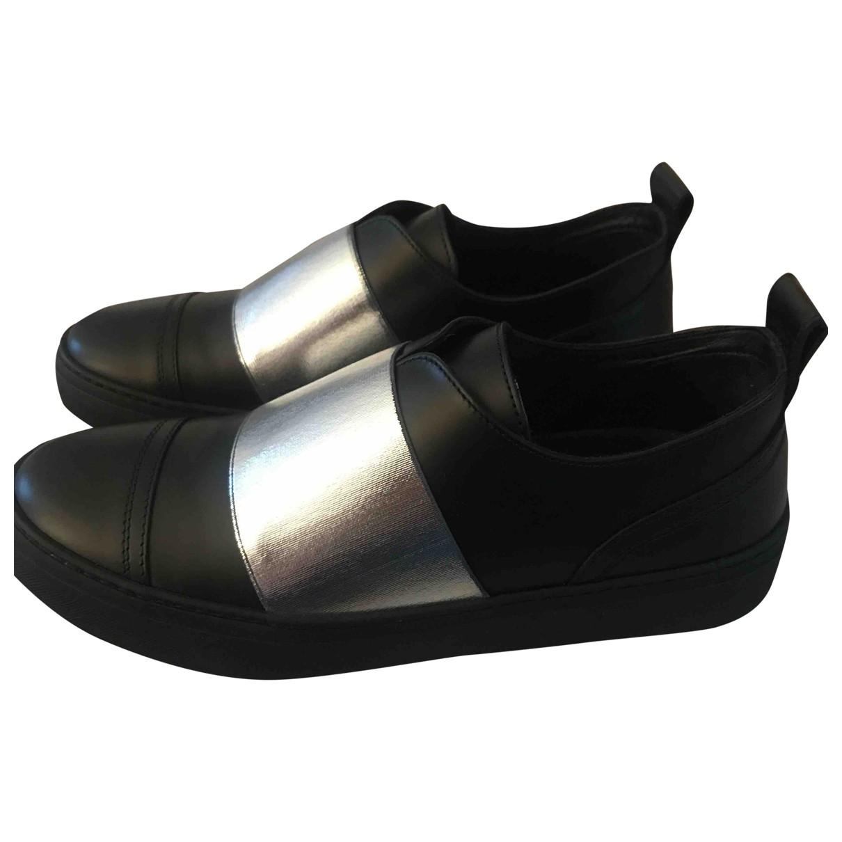 Jimmy Choo \N Black Leather Trainers for Women 38 EU