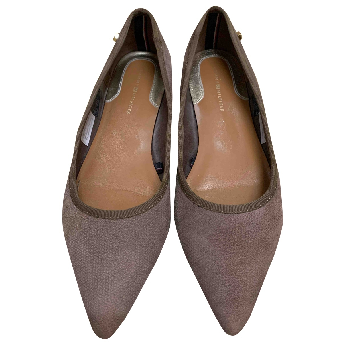 Tommy Hilfiger \N Brown Suede Flats for Women 38 EU
