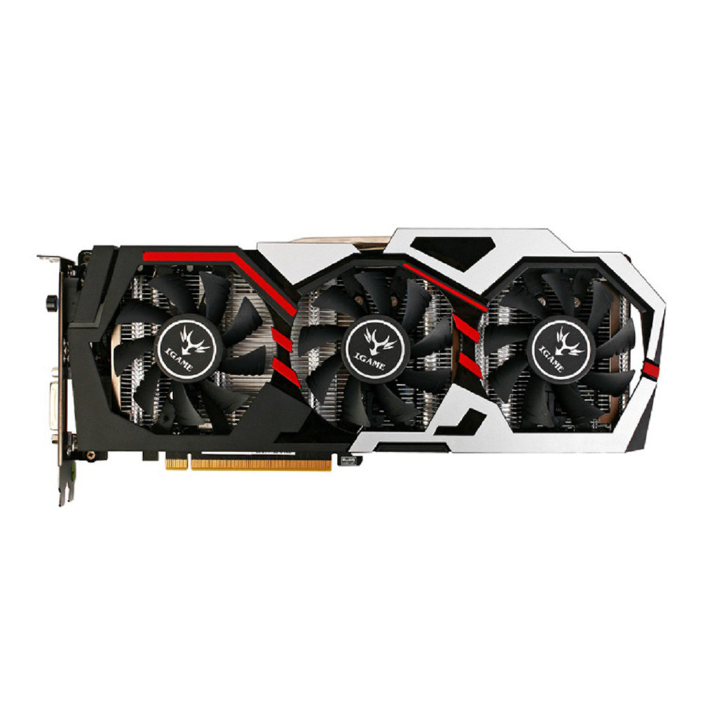 Colorful iGame GeForce GTX1060 U-3GD5 TOP Video Graphics Card 1506-1708MHz 3GB GDDR5 8Gbps/192Bit 3DP+HDMI+DIV - Black