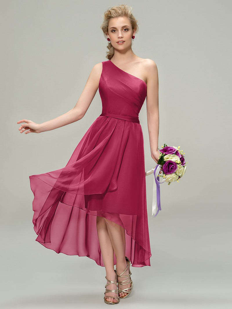 Ericdress One-Shoulder A-Line Beach Bridesmaid Dress