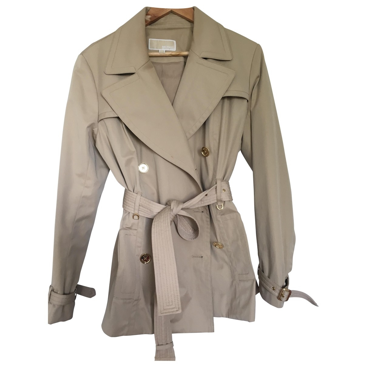 Michael Kors \N Beige Cotton Trench coat for Women 42 FR