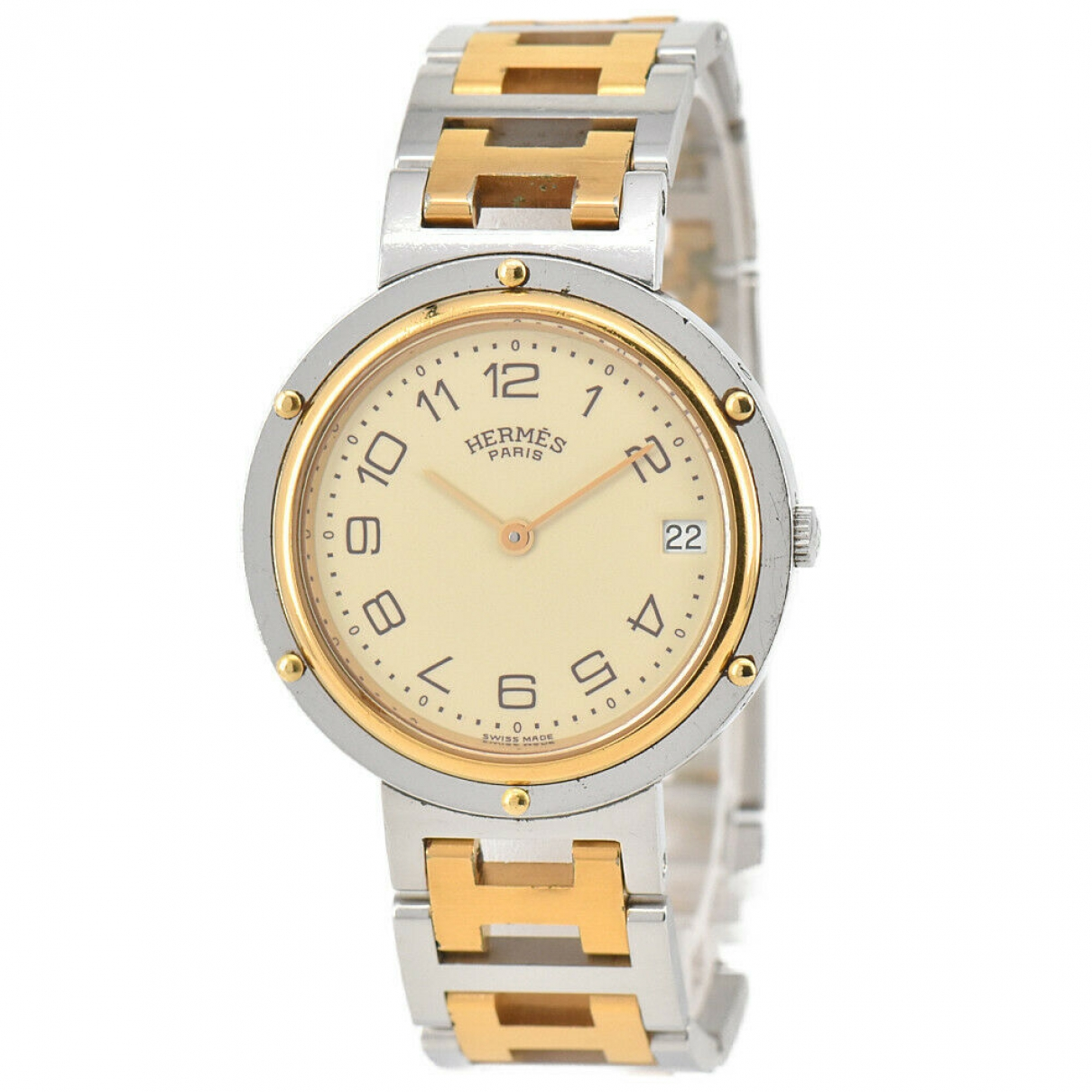 Hermès Clipper Gold Gold plated watch for Men \N