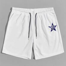 Guys Star & Letter Graphic Shorts