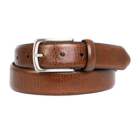 Dallas + Main Italian Leather Dress Belt, 32 , Brown
