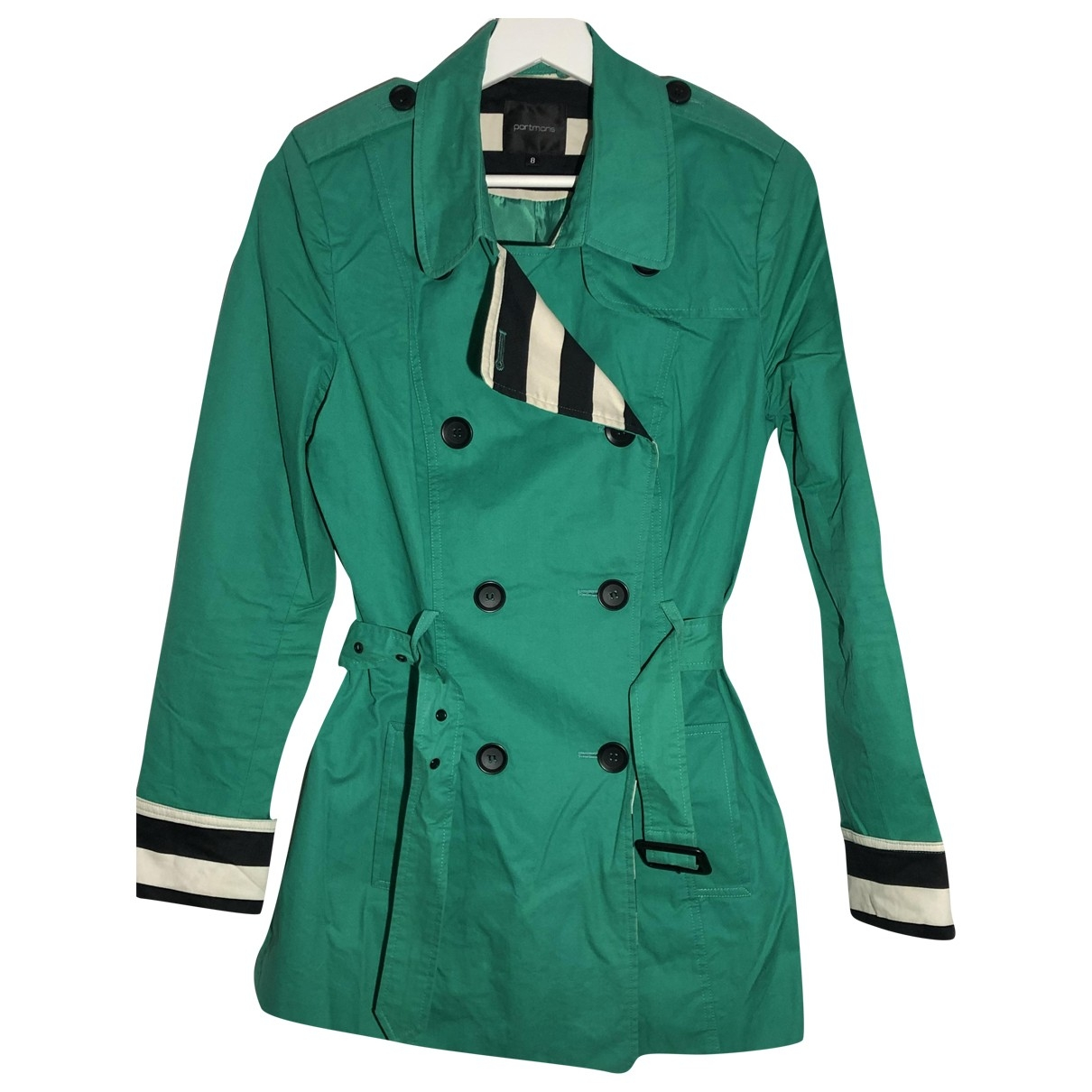 Non Signé / Unsigned \N Green Cotton Trench coat for Women 8 UK