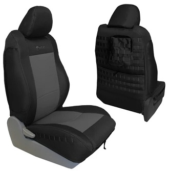 Bartact TTAC2016FPBG Tactical Series Front Seat Cover Black/Graphite for Toyota Tacoma 2016-2019