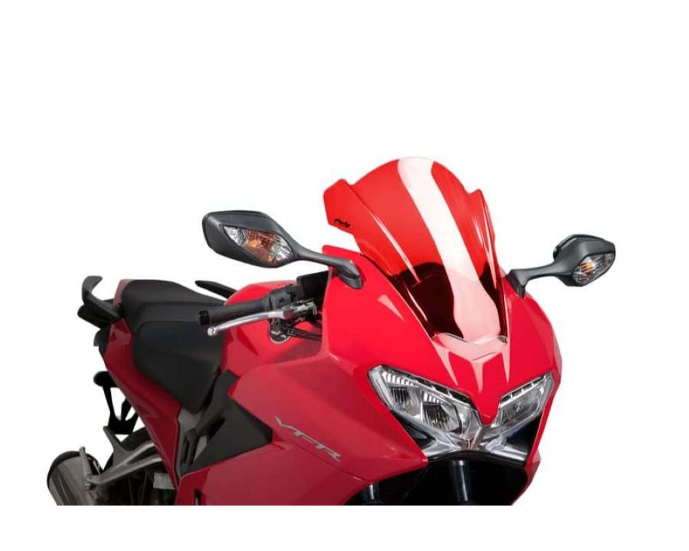 Puig 7598R Z-Racing Windscreen - Red Honda VFR800F Interceptor 2014