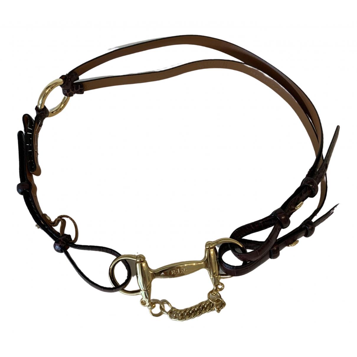 Lauren Ralph Lauren \N Brown Leather belt for Women 90 cm