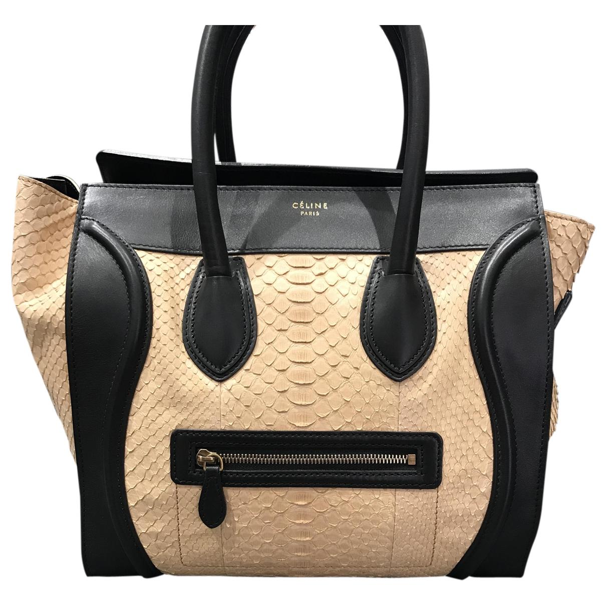 Celine Luggage Brown Python handbag for Women \N
