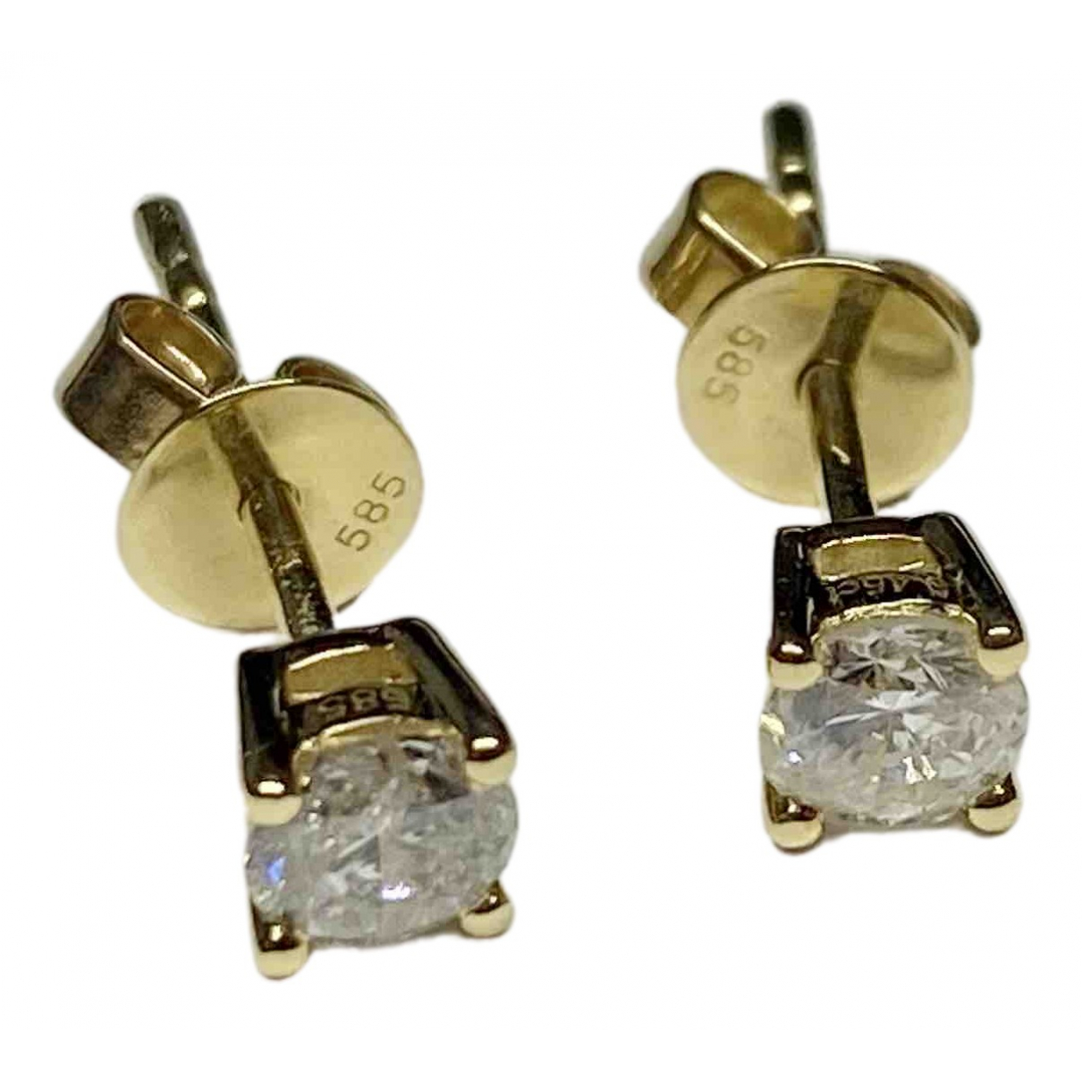 Non Signé / Unsigned Puces en diamants Yellow Yellow gold Earrings for Women \N