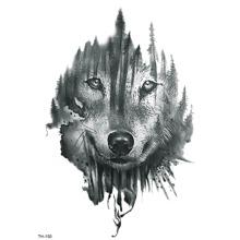 Wolf Face Tattoo Sticker