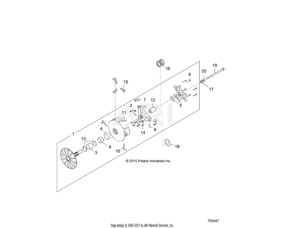 Polaris OEM 5452816 SPACER-CLUTCH, LIMITER